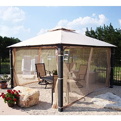 12 x 12 Medallion Post Gazebo Replacement Canopy & Amazon.com : 12 x 12 Medallion Post Gazebo Replacement Canopy ...