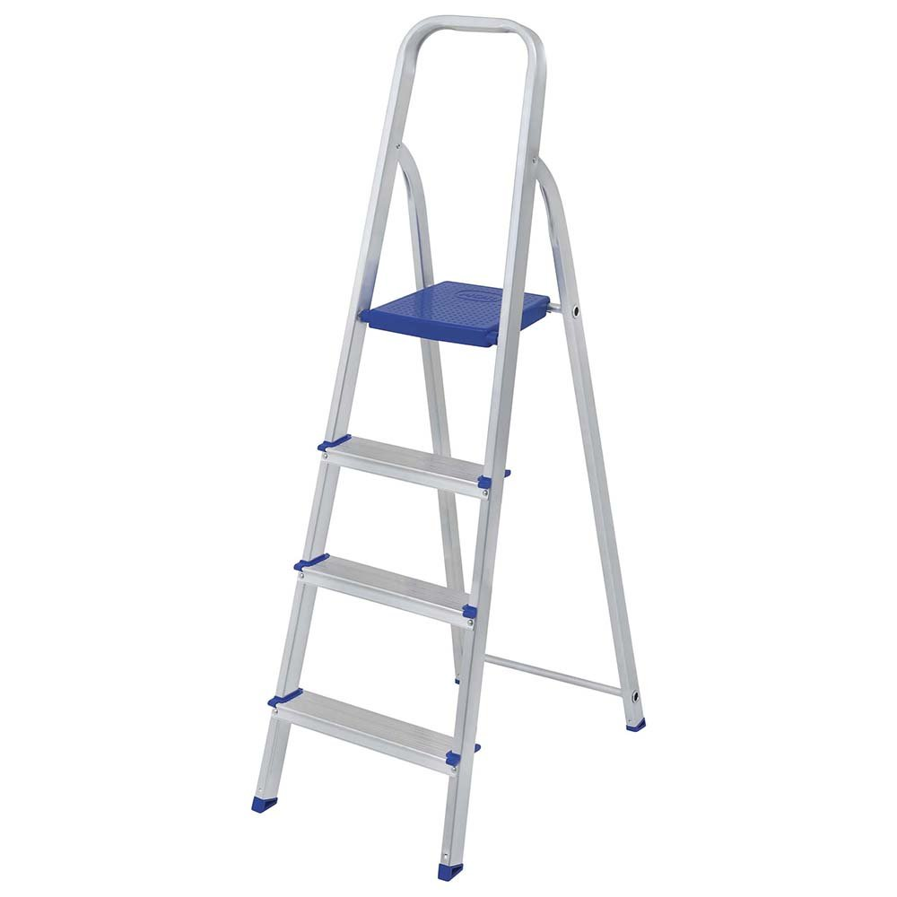 MOR Aluminum 4 Steps Ladder with 265 lbs. Load Capacity Type I Heavy-Duty
