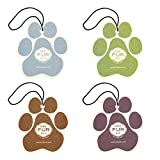 Pet House Car Air Freshener by One Fur All, Pack of 4 Non-Toxic Auto Air Freshener, Pet Odor Eliminating Air Freshener for Car, Ideal for Small Spaces, Dye Free Dog Car Air Freshener