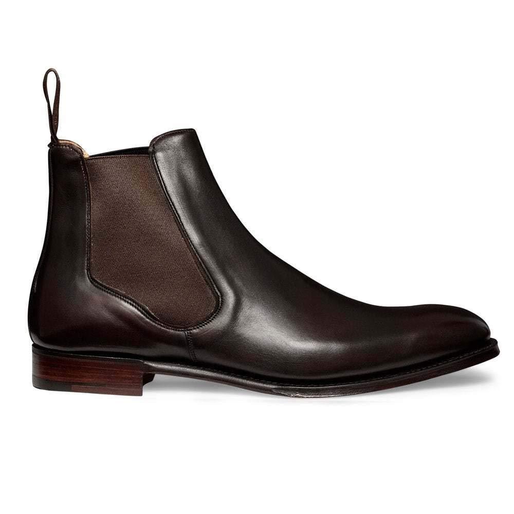 brand new 955e2 47e1c Men Handmade Dark Brown Leather Chelsea Boots Blue Lining ...