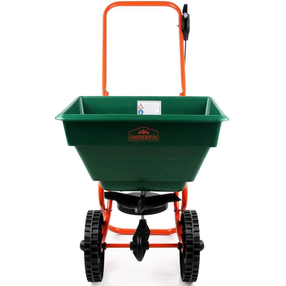 Carretilla esparciadora 25 litros de capacidad para fertilizantes, sal, arena: Amazon.es: Bricolaje y herramientas