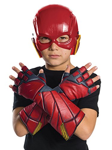 Rubie's Costume Boys Justice League Flash Gloves Costume, One Size ()