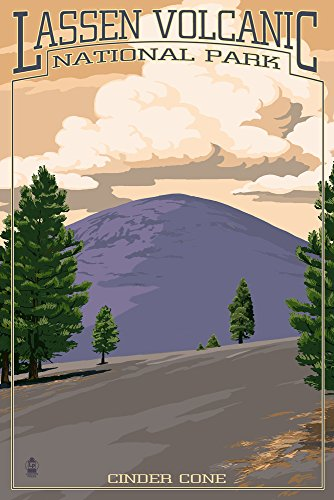 Lassen Volcanic National Park, California - Cinder Cone (12x18 Fine Art Print, Home Wall Decor Artwork -