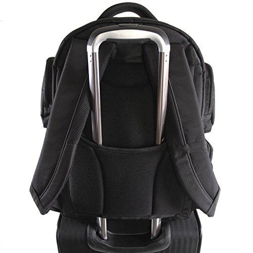 51qS9m206vL - Perry Ellis Men's 9-Pocket Professional Laptop Backpack-P350 Business Backpack, Black, One Size