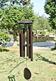 Agirlgle Large Metal Wind Chimes Outdoor- Tuned 36'' Garden Wood wooden Windchimes for Patio and Terrace - Best Large Musical Windchime Outdoor and Home Decoration(bronze)