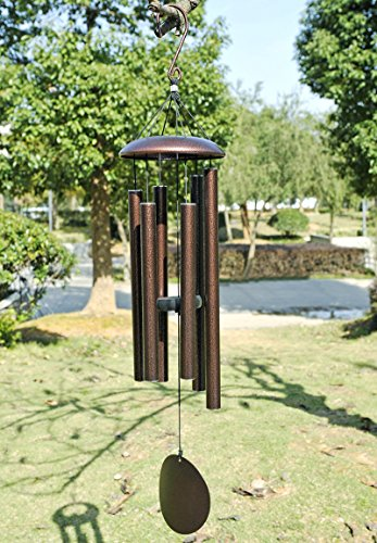Agirlgle large metal wind chimes outdoor tuned 36 garden for Patio and terrace