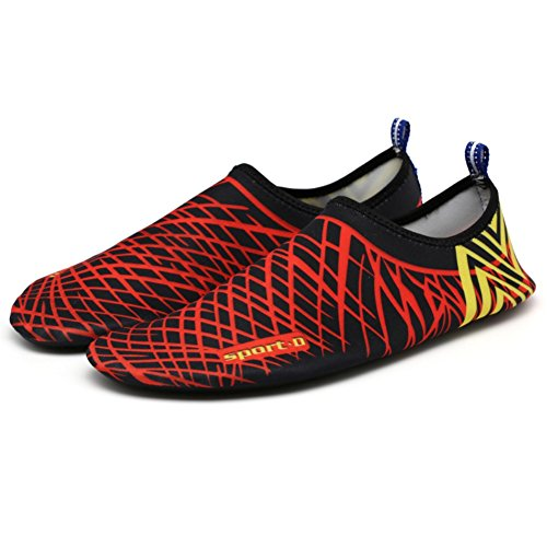 Dry Yoga Surf Anti Aqua Beach Slip Shoes Breathable Swim Black Quick on Shoes Unisex Socks Hankyky red Shoes Water Soft slip Outdoor BpZPPa