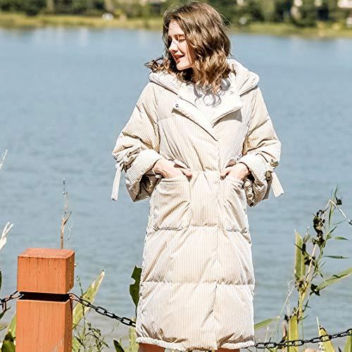 Spessore Hlq Lungo Duck Di Con Il D'inverno Piumino Cappuccio Coat Donna White s Ginocchio afnftxrZ