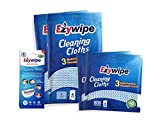 Ezywipe Cleaning Cloths Bundle 100% Rayon Heavy-Duty Pack of 6 m 2 L and 2 XL Multi-Purpose