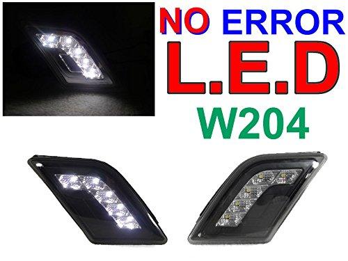DEPO 08-11 MERCEDES W204 WHITE LED SMOKE BUMPER SIDE MARKER LIGHT LAMP NO ERROR