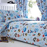 Mamas papas kids pirates single duvet cover and pillowcase set debenhams bluezoo kids blue pirates duvet cover and pillow case set double gumiabroncs Image collections