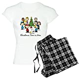 CafePress The Peanuts Gang: Christmas Womens Novelty Cotton Pajama Set, Comfortable PJ Sleepwear