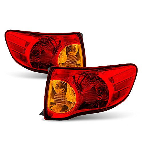 VIPMOTOZ For 2007-2014 Toyota FJ Cruiser OE-Style Red Lens Outer Body Tail Light Housing Lamp Assembly Replacement Driver & Passenger Side ()