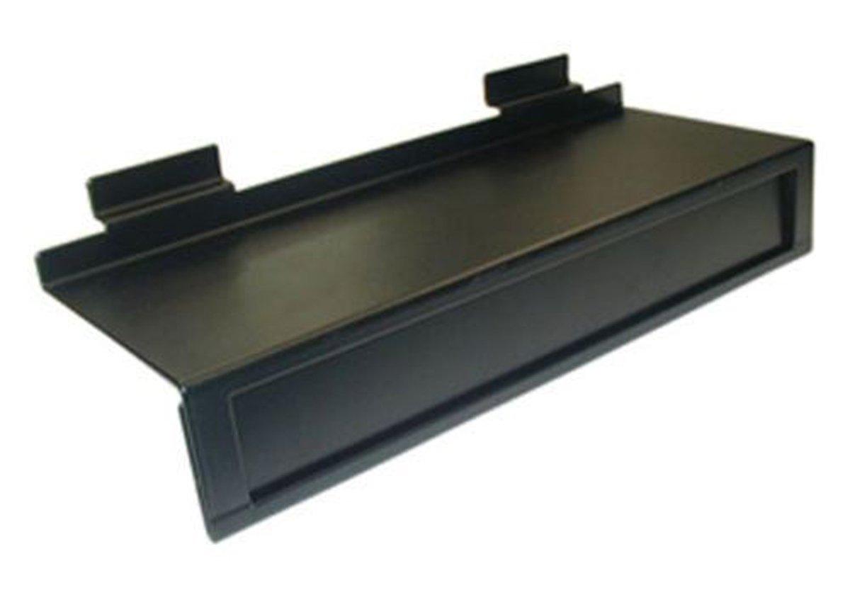 Metal Shoe Slatwall Slatgrid Footwear Shelf Display 11''x4'' Black Lot Of 10 NEW