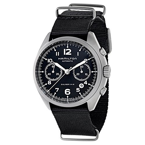 Hamilton Men's H76456435 Khaki Aviation Stainless Steel Automatic Watch with Black Canvas - Outlet Hamilton Stores
