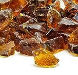 VIVID Heat Amber Ember Premium Outdoor Crushed Fire Glass Rock...
