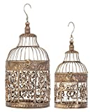 2-Pc Bird Cage Set in Brown
