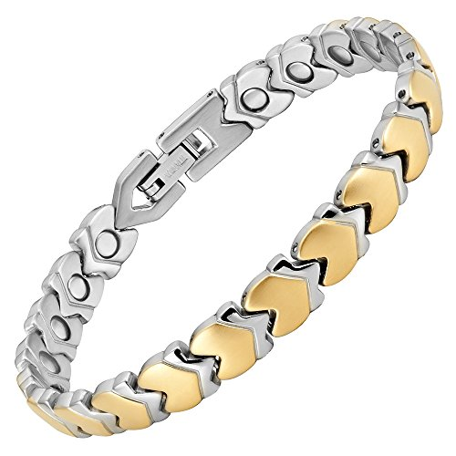 Womens Titanium Magnetic Therapy Anklet Bracelet for Arthritis Pain Relief and Tarsal Tunnel Adjustable by Willis Judd by Willis Judd