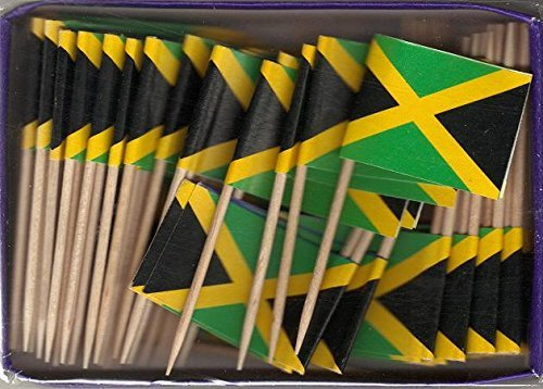 Box of 100 Jamaica Jamaican Toothpick Flags Dinner Flags Food Flags Flag Pick WindStrong® American Flag Superstore