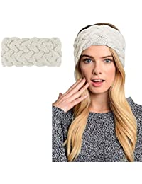 b29db2d9356 Womens Winter Knitted Headband - Crochet Twist Hair Band Turban Headwrap  Hat Cap Einter headband Ear
