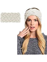 Womens Winter Knitted Headband - Crochet Twist Hair Band Turban Headwrap Hat  Cap Einter headband Ear 9d247c348627