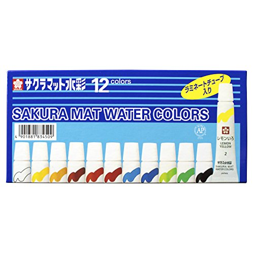 12-colors-sakura-color-paint-mat-watercolor-5ml-laminated-tubes-containing-emw12