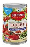Del Monte Diced Tomatoes with Green Pepper & Onion 14.5 oz (Pack of 12)