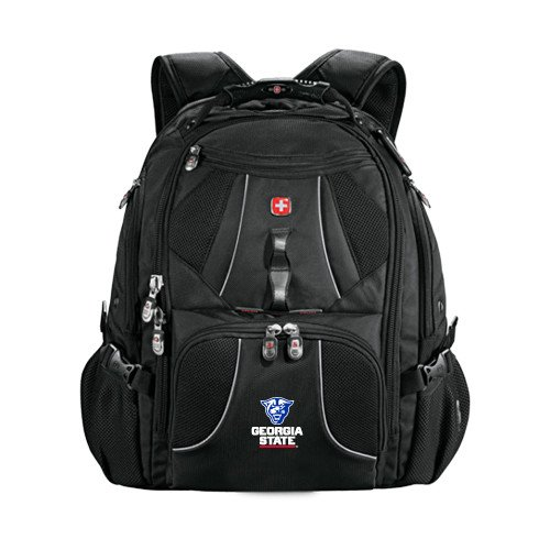 Georgia State Wenger Swiss Army Mega Black Compu Backpack 'Official Logo' by CollegeFanGear