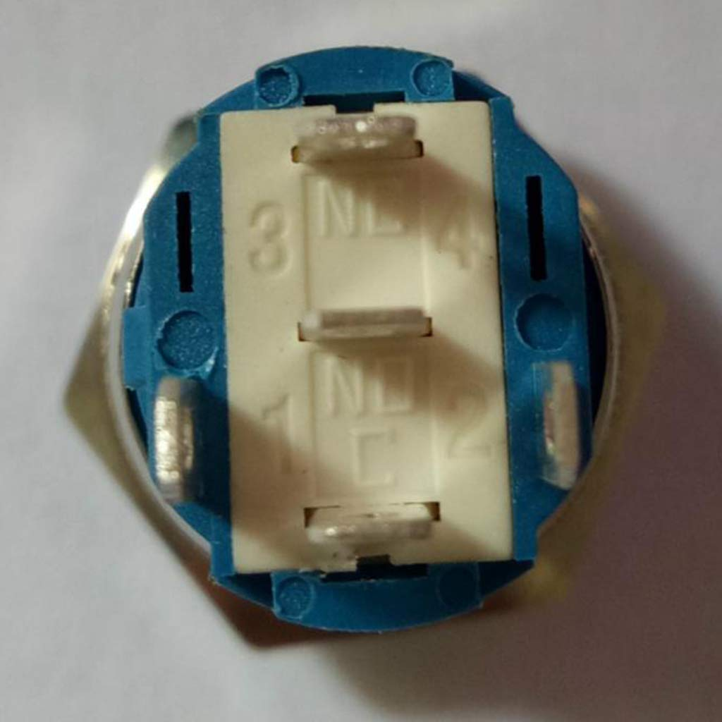 Baoblaze 16mm 12-24V LED Druckschalter Schalter Einbauschalter f/ür Auto KFZ Selbst Reset