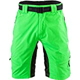 SILVINI MTB Shorts Rango with 6 Pockets for Men's Mountain Bike Cycling and All Outdoor Activities (Forest - M)