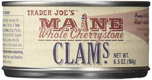 Trader Joe's Maine Whole Cherrystone Clams 1 Can