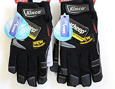 Kinco 2051 Work Gloves for Men - Ski Gloves for Men (2-Pack) - HeatKeep Full Sock Thermal Lining - XtremeGRIP! Reinforcing and Gripping Material - AquaNOT! Waterproof Lining