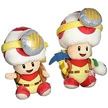Set of 2 Sanei Super Mario Series Captain Toad Plush Doll - Standing & Sitting Pose