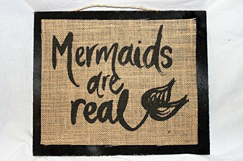 Burlap Country Rustic Chic Wedding Sign Western Home Décor Sign : Special order for Eileen / 6 signs With mermaid / 2 ()