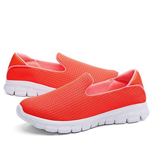 Slip Donna on Basse Walk Scarpe Go Ginnastica Da Sneaker Jackshibo Leggero Arancione dSwIfIq