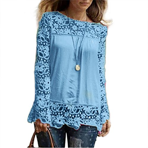 PHOTNO-Fashion-lace-chiffon-blouse-long-sleeve-shirt-women-loose-cotton-tops-t-shirts-S-XXXXXL