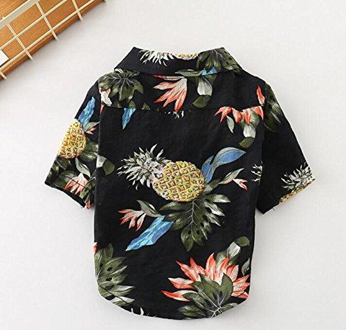 BANCN Adorable Ropa para Mascotas Beach Wind Pineapple Camiseta Transpirable Fina Cat Dog Clothes Black M