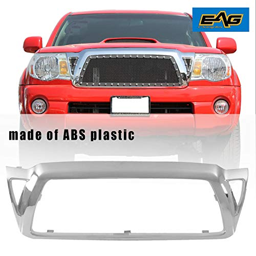 EAG Outer Grille Shell Chrome ABS Plastic Shell Fit for 2005-2011 Toyota Tacoma