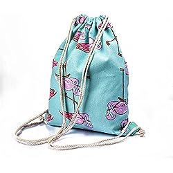 Girls Shoulder Bags Women Canvas/ Cotton Backpack Bag Shoe Travel Pouch Portable Drawstring Storage Bags