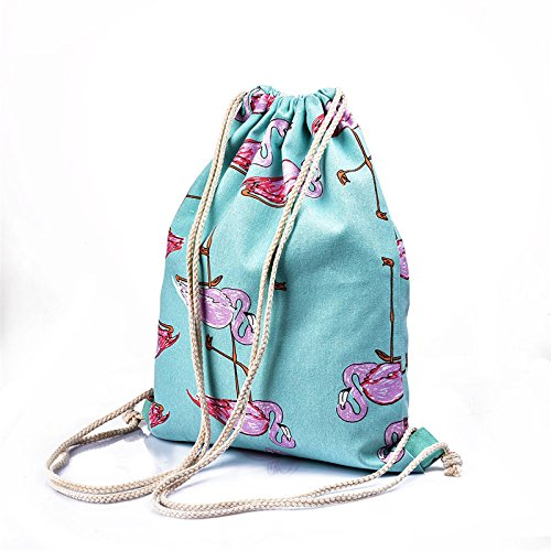 Girls Shoulder Bags Women Canvas/ Cotton Backpack Bag Shoe Travel Pouch Portable Drawstring Storage Bags
