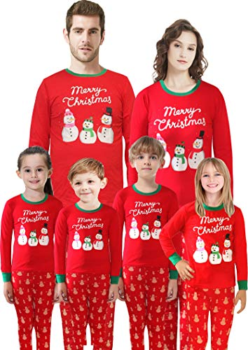 Christmas Matching Family Pajamas Santa Pajamas for Boys and Girls Children Cotton Sleepwear Toddler Pants Set Size 14 (Christmas Girl Merry)