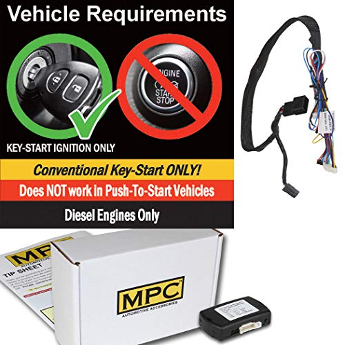 MPC Complete Add-on Remote Start Kit w/T-Harness for 2006-2007 Dodge Ram 2500 - Semi-Plug & Play - Uses OEM Remotes - Diesel