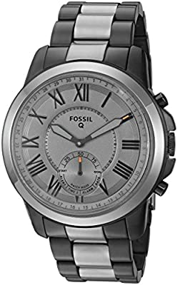 Fossil Q Men's Grant Stainless Steel Hybrid Smartwatch, Color: Grey (Model: FTW1139) from Fossil Watches