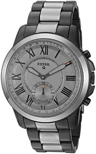 Fossil Hybrid Smartwatch - Q Grant Smoke-Tone Stainless
