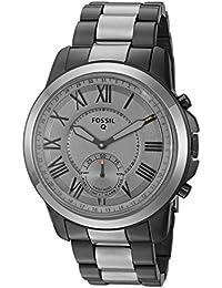Q Men's Grant Stainless Steel Hybrid Smartwatch, Color: Grey (Model: FTW1139)