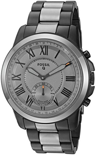 Fossil Q Men's Grant Stainless Steel Hybrid Smartwatch, Color: Grey (Model: FTW1139)