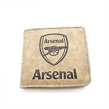 ASENER Patrones Oficiales De Arsenal FC Y Real Madrid Crest Cartera Marrón De Caja De Cuero Envejecida - Monedas Y Tarjetero para Fútbol Club Fan ...