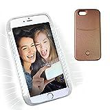 LED Illuminated Phone Case for iPhone 6 Plus & iPhone 6s Plus ,iPhone 6 Plus Led Light Up Selfie Case (Rose Gold)