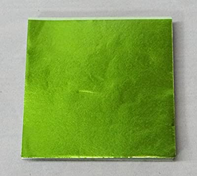 "3"" x 3"" Lime Green Confectionery Foil Wrappers Candy Wrappers Candy Making Supplies"