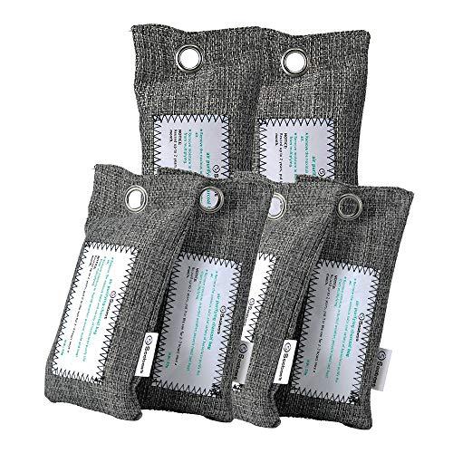 Soobest 6 Pack Bamboo Charcoal Air Purifying Bag, Natural Charcoal Odor Absorber, Car Air Freshener, Closet Deodorizer,Shoe Moisture Absorber.